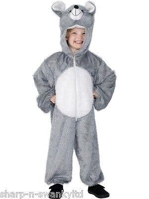 Mädchen Jungen Grau Maus Ratte Nagetier Tier Büchertag Kostüm Verkleiden Outfit