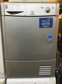 Silver Indesit Condenser tumble dryer