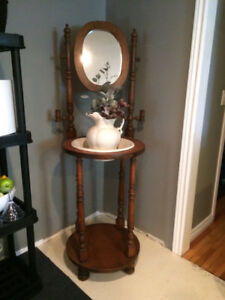 Antique Wash Stand  with Basin and Pitcher
