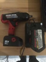 """Snap-on 18 volt cordless 1/2"""" impact complete"""