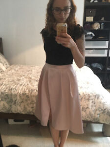 EverNew Melbourne Blush High Waisted Skirt