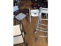 Used Zimmer, Perching Stools, Commodes, mobility clearance