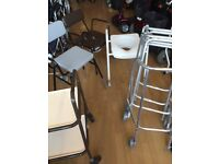 Used Zimmer, Perching Stools, Mobility Scooters Commodes, wheelchairs, crutches mobility clearance