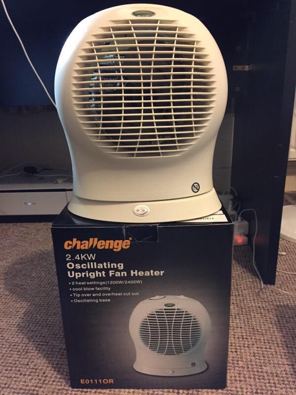 Challenge 2 4kw Upright Oscillating Fan Heater In Heath