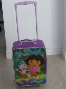 Rarely Used Dora the Explorer Suitcase Rolling Luggage