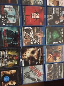 Lot of 24 blu-ray movies with blu-ray player