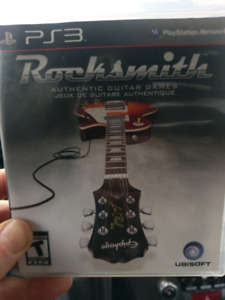 Rocksmith authentic guitar game ps3 with cable
