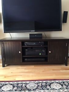 "54"" tv media unit - solid pine- brand new"