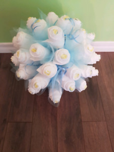 Bouquet de couches,  diaper cake, gâteau de couches, baby shower