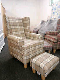 Brand new fireside chair and footstool