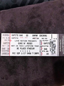 Guns N Roses ticket. Floor. Front of the front!