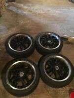 Set of all season tires and rims