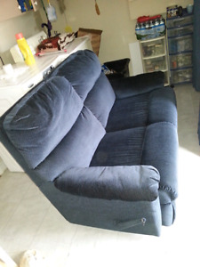 Reclining love seat,used
