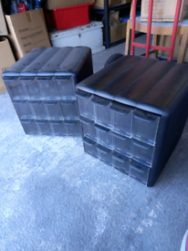 12 drawer plastic storage units