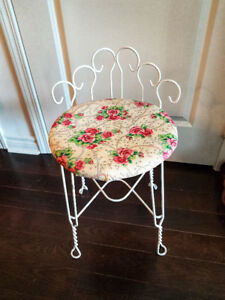 Cute floral vintage decorative chair