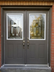 Double Door with New Glass Inserts