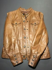 Brown leather jacket (Gap brand) size 8-10