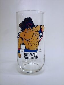ULTIMATE WARRIOR WWF collector glass 1990