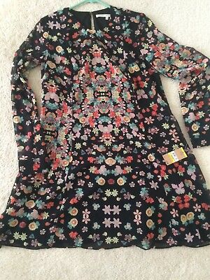 Nwt Rachel Roy Floral Shift Dress Long Sleeve Tunic Dress Anthropologie Sz M