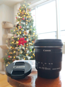 Canon Wide Angle Lens EFS 10-18mm 4.5-5.6 IS STM *PERFECT* Cond.