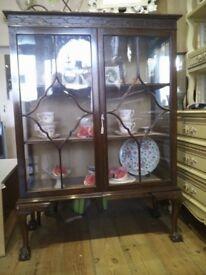 Nice Antique dark wood Chine Cabinet.