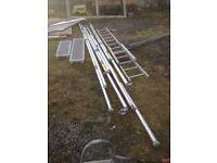 Aluminium scaffold parts