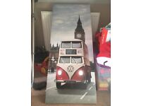 Large canvas VW bus pucture