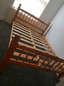 Double Pine Bed frame £80