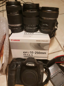 Canon body and lenses