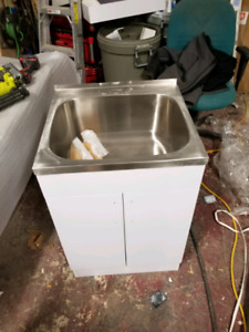24 laundry tub stainless steel sink