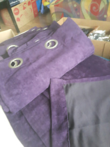 8 purple curtain panels