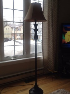 Floor lamp and shade