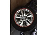 4 Mercedes Benz 16 inch alloys with Tyre or one for £55