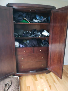 Solid Mahogany Armoire or tv stand