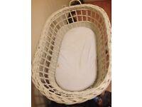 Wheeled Whicker Crib