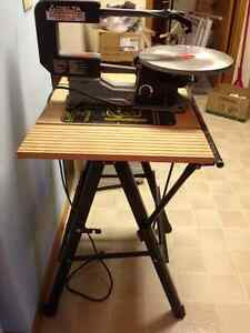 """Delta 16"""" variable scroll saw and stand"""