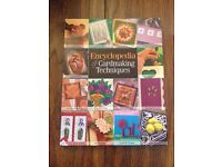 Encyclopaedia of Cardmaking Techniques book and card craft kit