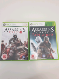 Assassins Creed 2 and Assasin creed revelations Xbox 360 discs