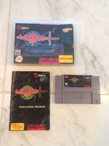 Super rare SNES Game LEGEND. Complete with Box and Manual