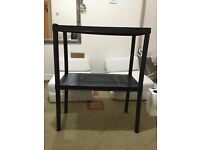 Black plastic storage shelves excellent condition, easy to stow away!