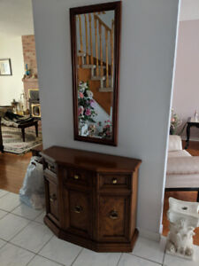 Hallway console and matching mirror