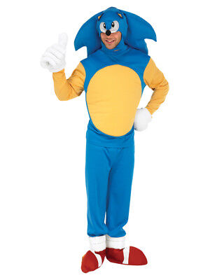 Adult Sonic The Hedgehog Fancy Dress Costume Mens Gents Male BN ()