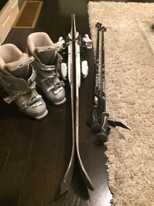 Skis,poles And boots