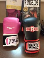 2 pair  pro style training gloves/boxing gloves-never used!!!