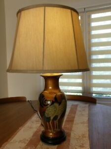 Hand Crafted Oriental Table Lamp with Shade