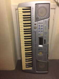 Panasonic portable piano keyboard--with stand