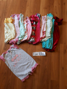3-6 month girl rompers. P/u martensville