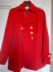 Coat stylish red
