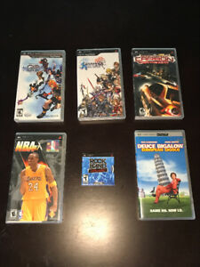 SIX (6)  PSP GAMES FOR SALE!