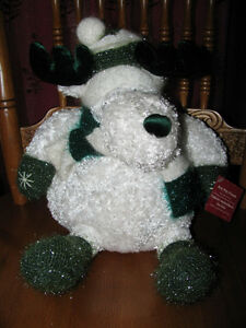 Super Soft Plush Christmas Moose with Tag Roly Poly Friends